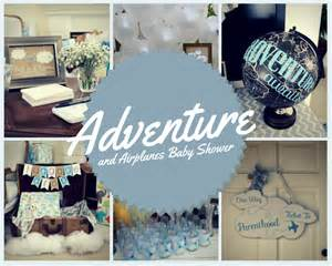 Decorating For A Baby Shower Adventure And Airplanes Baby Shower The Yes Girls