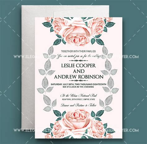 photoshop invitation card template 60 free must wedding templates for designers free