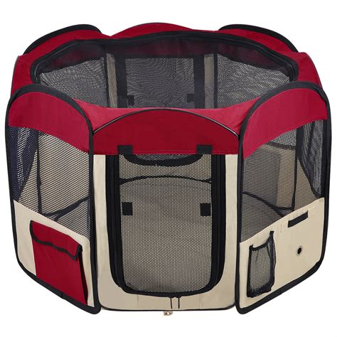 portable puppy playpen 33 quot 45 48 57 quot 600d oxford portable pet puppy soft tent playpen cat crate pen ebay