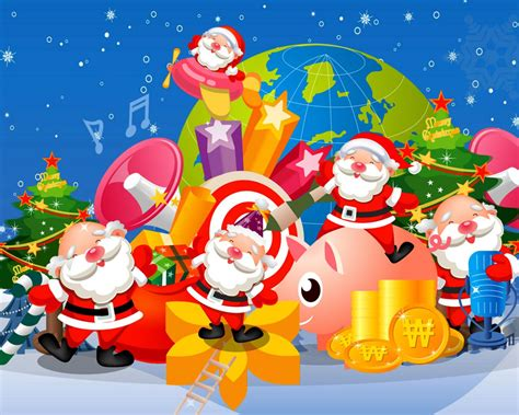 christmas decor  santa claus christmas tree gifts desktop backgrounds