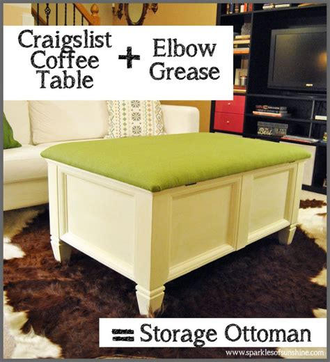 Craigslist Ottoman Craigslist Coffee Table Makeover Sparkles Of