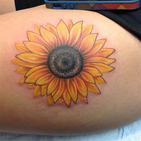 sunflower tattoo body art pinterest