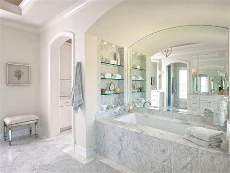white spa bathroom glass shelves design ideas home decor pictures