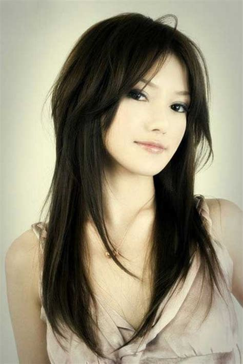 photos of hairstyles that are longer on the one side 40 best long layered haircuts hairstyles haircuts