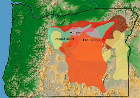 john day fossil beds map john day fossil beds national monument oregon national