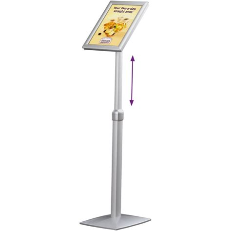 flexible floor standing ls a4 floor standing snap frame display adjustable height
