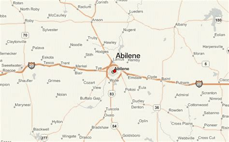 map of texas abilene abilene location guide