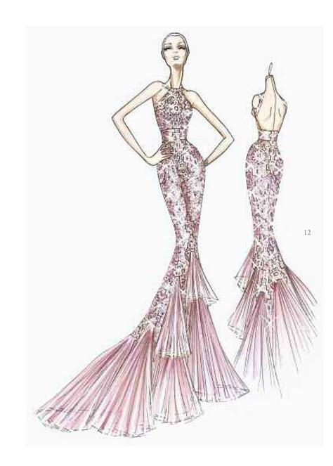 fashion design dress sketches atelier versace sketch fashion designer sketches