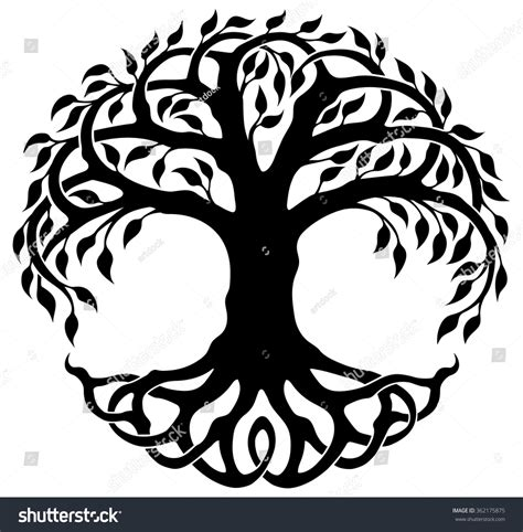 Celtic Tree Of Images Vector Ornament Decorative Celtic Tree Life Stock Vector