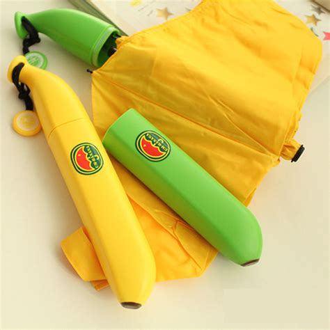 Banana Umbrella Payung Pisang creative banana umbrella uv protection payung pisang