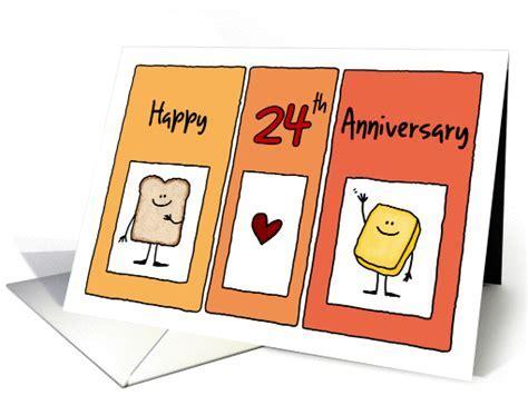 Happy 24th Anniversary   Butter Half card (1227088)