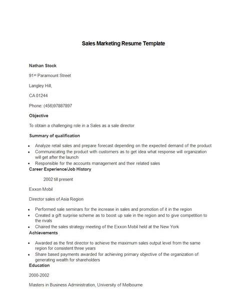 marketing resume format hitecauto us