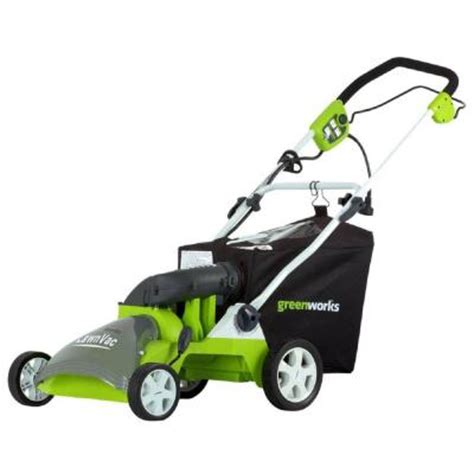 green works 16 in 14 corded lawn vac discontinued