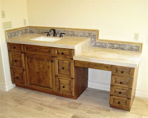 Bathroom Vanity With Dressing Table Makeup Vanity Or Dressing Table Mediterranean Bathroom Los Angeles By Cedar Hill Cabinets