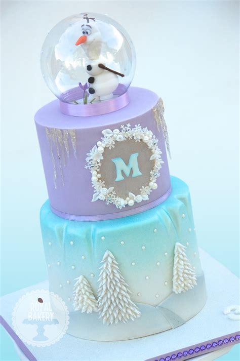 Freezer Cake olaf snowglobe frozen cake cakecentral
