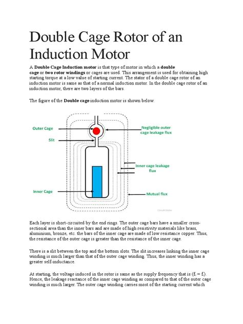 characteristics of induction motor pdf cage rotor of an induction motor electromagnetism electrical engineering