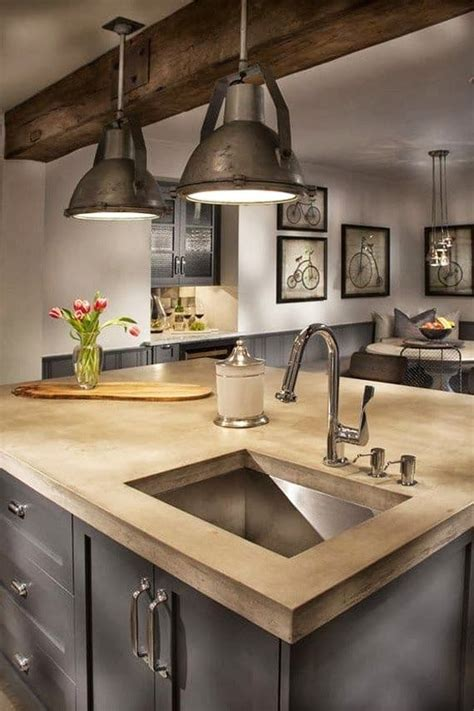 industrial style kitchen island 40 amazing modern style interior design ideas photos