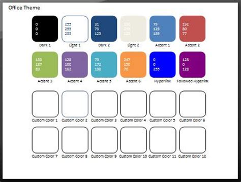 theme names related to colors color swatch add in for powerpoint 2007 and 2010