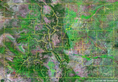 colorado map with county lines colorado county map