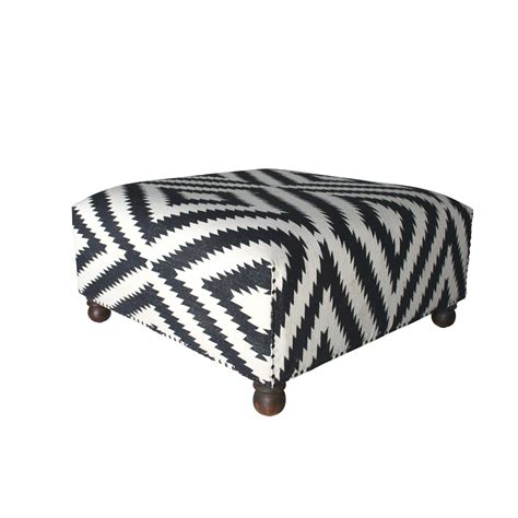 black and white ottoman black and white cotton dhurrie ottoman coffee table