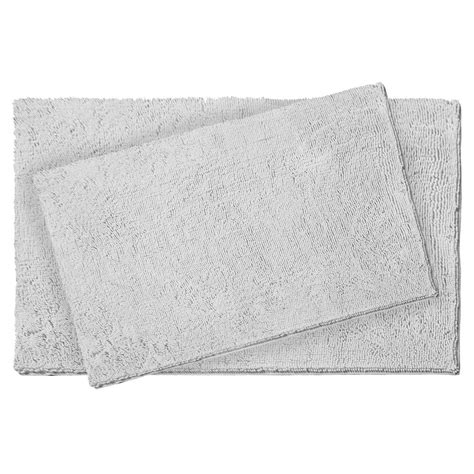light grey bathroom rugs resort collection plush shag chenille light gray 21 in x 34 in and 17 in x 24 in 2