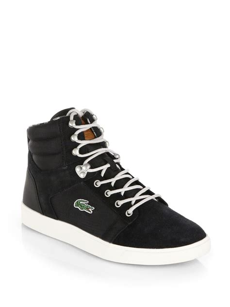 lacoste sneakers for lacoste orelle hightop sneakers in black for lyst