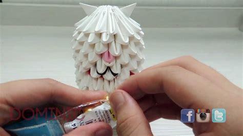 3d Origami Cat Tutorial - how to 3d origami cat tutorial part 2
