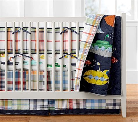 quilted crib bedding submarine quilted nursery bedding pottery barn