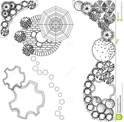 How To Draw A Floor Plan By Hand vector landscape plan stock vector image of landscaping