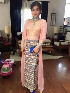 Set Kirana Dress japanese models displaying myanmar traditional costumes myanmar dress design