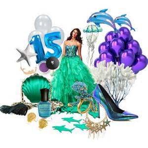 Sea Shell Decor Under The Sea Sweet Fifteen Theme Polyvore