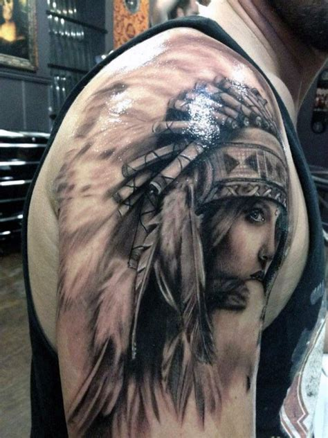 native american woman tattoo related keywords suggestions for american