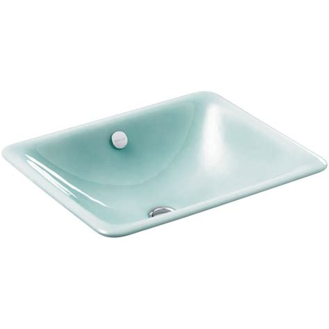 kohler cast iron bathroom sink kohler iron plains dual mount cast iron bathroom sink in