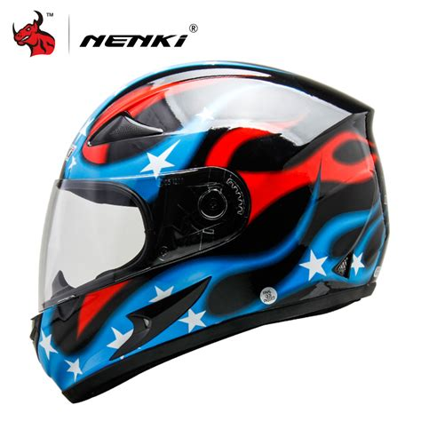 cool motocross helmets nenki motorcycle helmet motorcycle cool blue full face