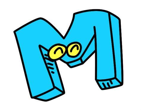 imagenes infantiles con la letra m dibujo de letra m pintado por en dibujos net el d 237 a 09 10