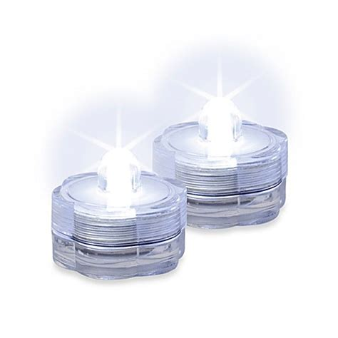 Battery Operated Lights Bathroom Battery Operated Water Submersible White Led Lights Set Of 2 Bed Bath Beyond