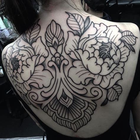 henna tattoo back piece 17 best ideas about flower back tattoos on