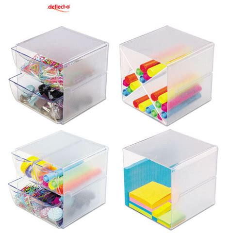 desk with cube storage keep your work desk clutter free with deflect o