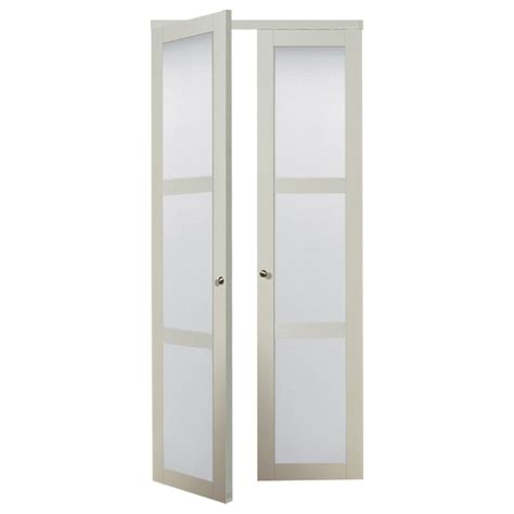 Etched Glass Pantry Doors Lowes by Pantry Doors Reliabilt 3 Lite 36 In X 6 Ft 8 1 2 In