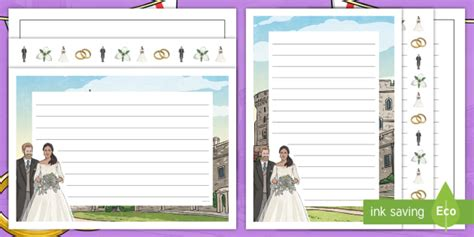 wedding border twinkl new ks2 the royal wedding 2018 page border pack prince