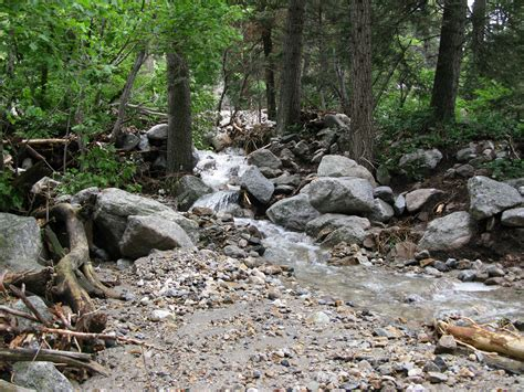 stream bed little cottonwood canyon closed rock and mud slides cross road photo gallery