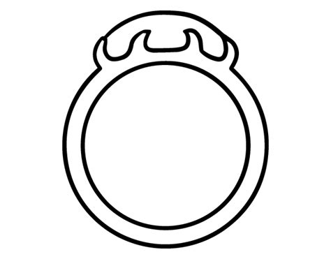 Inlaid Stone Ring Coloring Page Coloringcrew Com Ring Coloring Pages