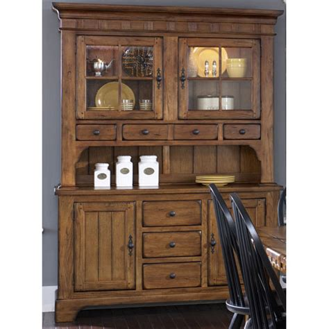 treasures rustic oak buffet and hutch liberty furniture buffets with hutches buffets