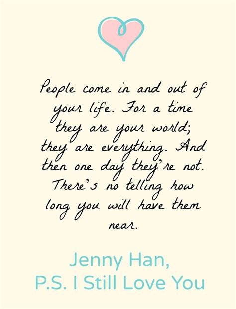 libro p s i still love ps i still love you by jenny han book quotes