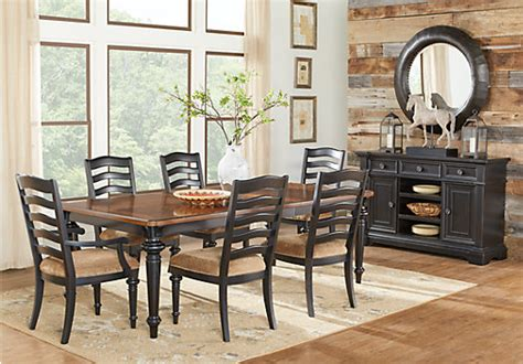eric church creates highway to home furniture collection eric church highway to home arrow ridge 5 pc rectangle dining room dining room sets black