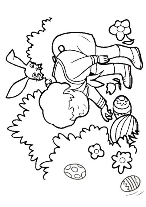 coloring pages easter egg hunt easter egg hunt coloring pages