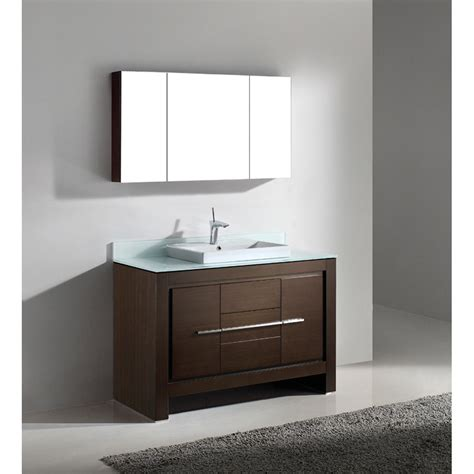 Modern Bathroom Vanities With Tops Madeli Vicenza 48 Quot Bathroom Vanity Walnut Free Shipping Modern Bathroom