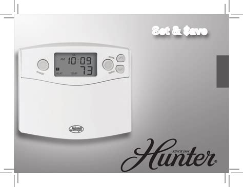 hunter fan thermostat instructions hunter fan thermostat 42710 01 user guide manualsonline com