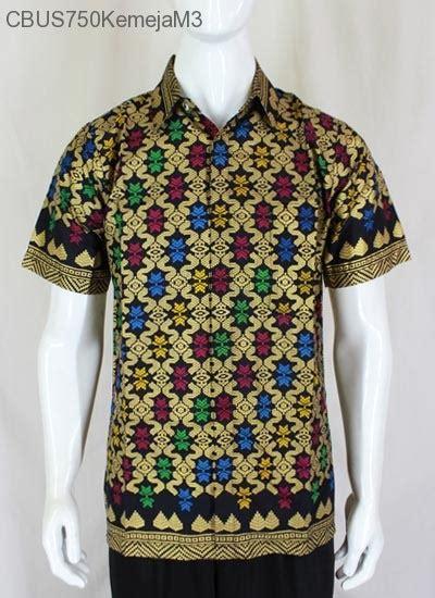 Kemeja Batik Lengan Pendek Prodo Kapal hem katun prodo songket kemeja lengan pendek murah batikunik