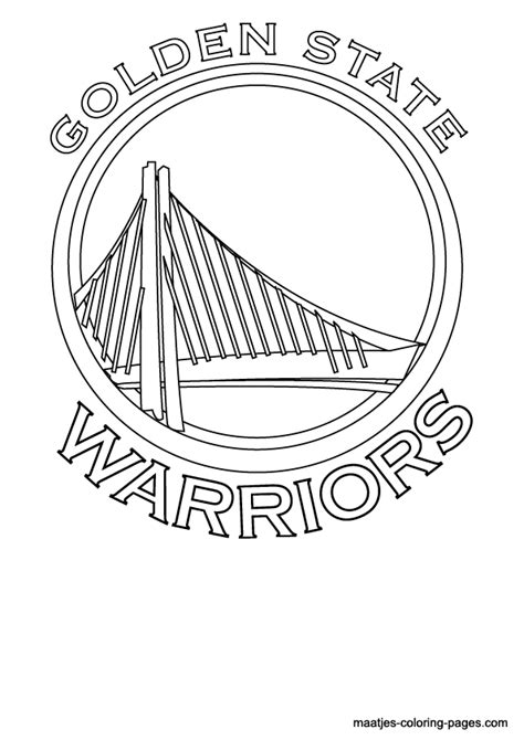 golden state warriors logo coloring page free printable